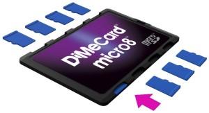DiMeCard™ micro8™ microSD Card Holder For Consumers